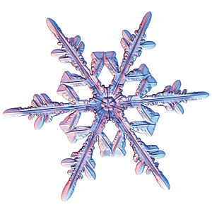 Snowflake photograph by Kenneth Libbrecht