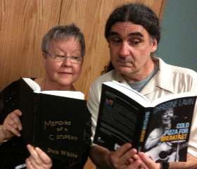 Don White and Me -- dueling books!
