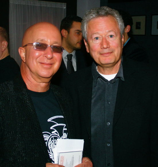 PAUL SHAFFER AND STEVE SOROKOFF AT JIM CARUSO'S CAST PARTY