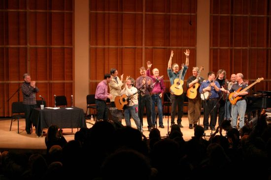 PETE SEEGER & FRIENDS ONSTAGE AT MERKIN HALL