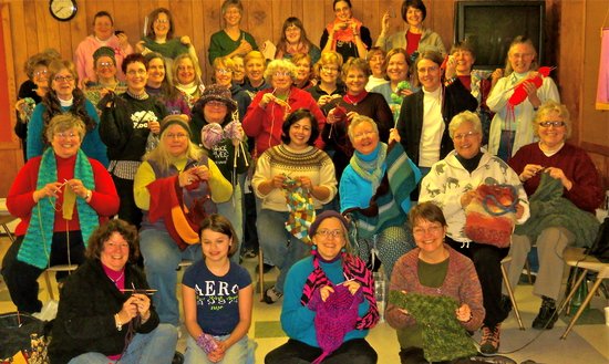Knitting Circle before the concert in East Lansing, MI