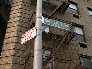 The street in front of the building where Ronk lived has been named in his honor.