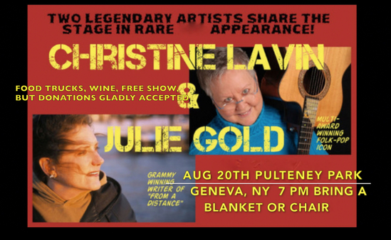 SATURDAY AUGUST 20th IN THE FINGER LAKES