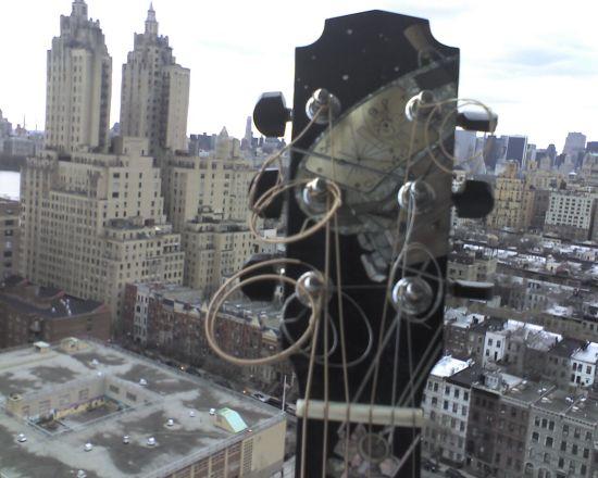 My Laskin guitar as part of the skyline