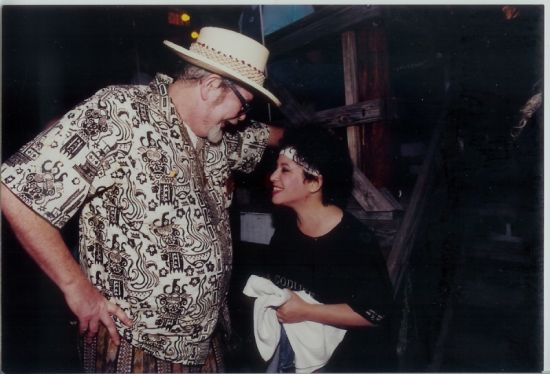 DAVE VAN RONK, JANIS IAN BACKSTAGE AT PHILLY FOLK FESTIVAL