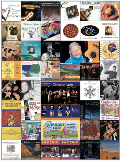 As of 2021, all of Christine's albums and books