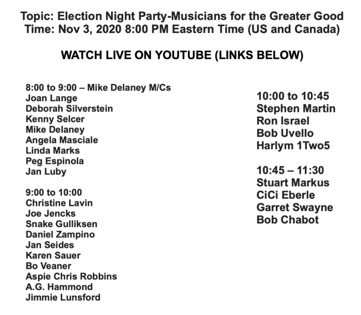 The show starts at 8  I go on at 9 PM  920 PM Eastern  a good lineup of musicians hoping for the best