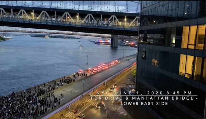 June 1 2020 845 PM FDR Driveunder the Manhattan Bridge