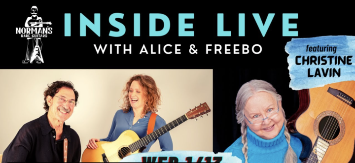 Alice Howe is a spectacular singer Freebo a brilliant bassist  I039m their guest on Wednesday at 8 PM Eastern  plus an quotAfter Partyquot with a surprise guest