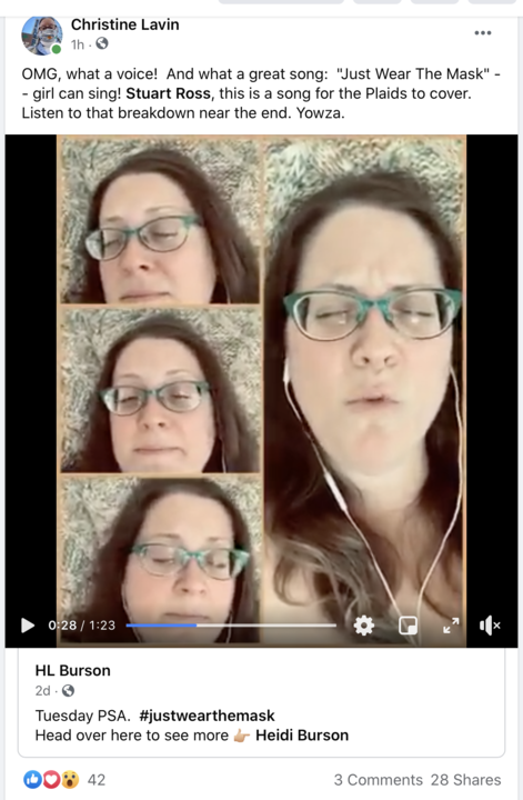 Listen to this A singer sing her brilliant a cappella song quotWear A Maskquot  and please share