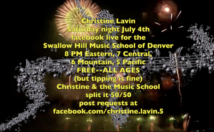 Let me know if you want to hear something I haven039t done in a long time  the show is 8 PM Eastern under the umbrella of the Swallow Hill Music School of Denver