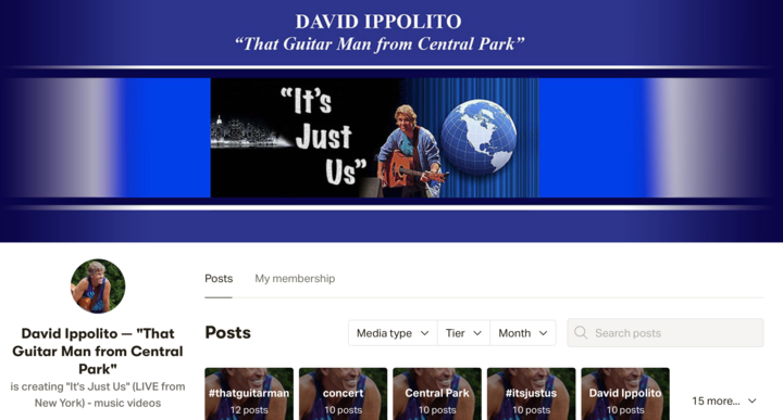 David039s been the Guitar Man Of Central Park for 27 years  today I039ll be his live guest today  FREE online concert at 4 PM Eastern 1 PM Pacific