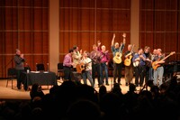 PETE SEEGER amp FRIENDS ONSTAGE AT MERKIN HALL