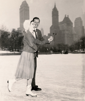 Ice skating in Wollman Rink Central Park circa 1950s