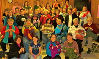 Knitting Circle before the concert in East Lansing MI