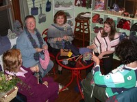 Preshow knitting circle New Hampshire