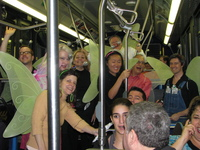 On the way to the Greenwich Village Halloween Parade