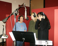 JULIE GOLD HELEN RUSSELL SUZZY ROCHE  LIVING WIND CHIMES IN THE RECORDING STUDIO