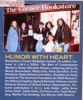 Christine with fellow writers in the book LIfe039s A Stitch