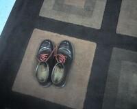 John Gorka039s shoes backstage at Boulton Center for the Arts